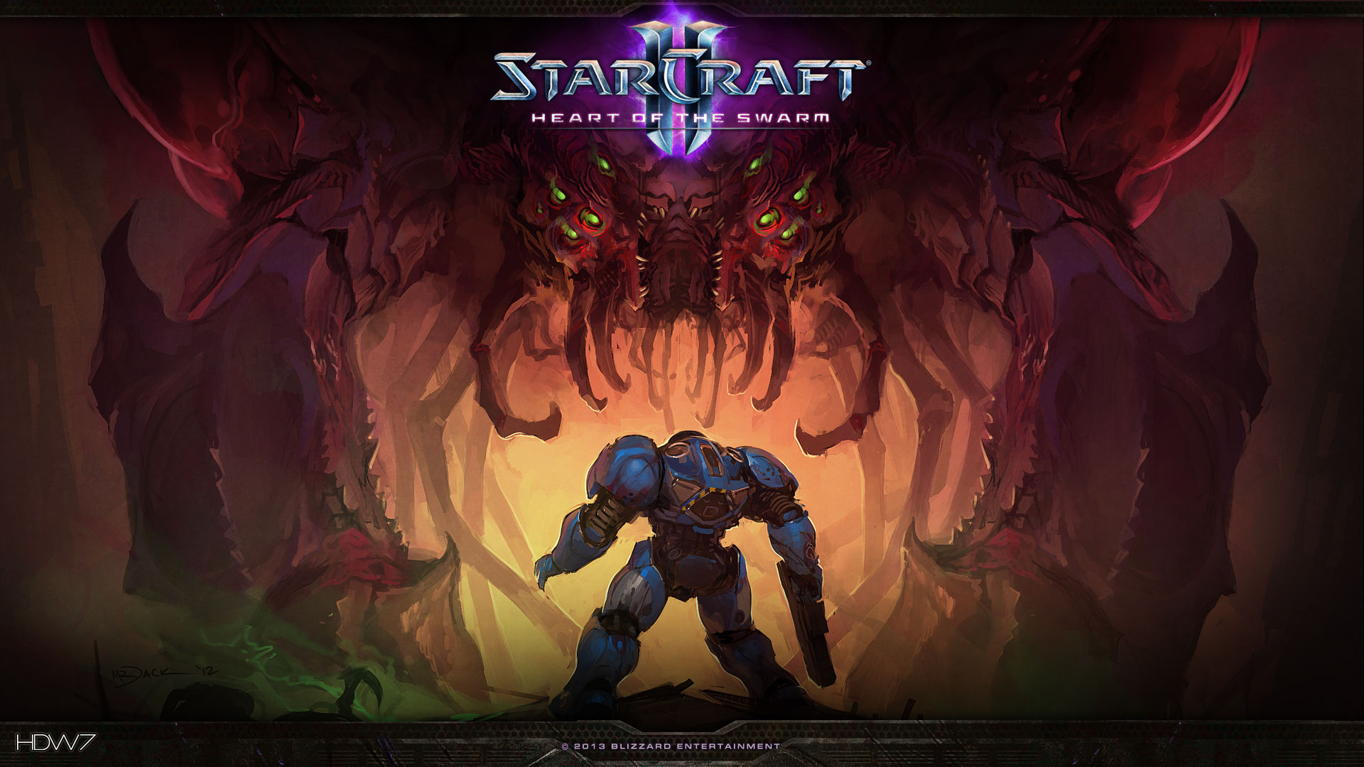 starcraft-2-heart-of-the-swarm-just-an-overlord-widescreen-hd-wallpaper